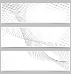 Promotion flyer wave line header collection vector