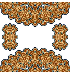 Gold embroidery vector