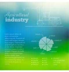 Cargo industry transportation vector