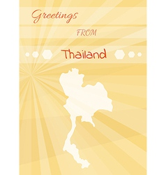Greetings from thailand vector