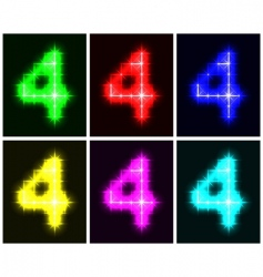 Number 4 symbols vector