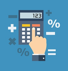 Calculation mathematics accountant concept flat vector