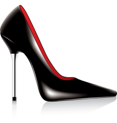 High heel shoe vector