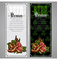 Premium beer document vector