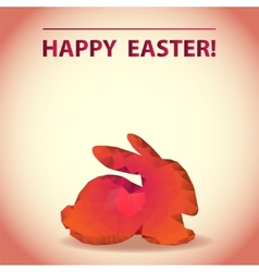 Polygonal easter bunny vector