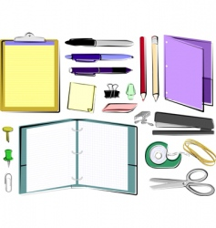 Office and school supplies vector
