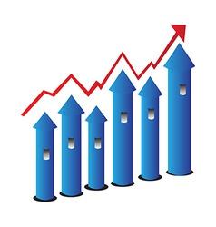 Grow chart vector