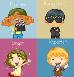Different occupations vector