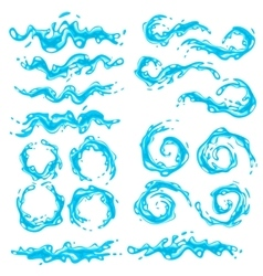 Water splashes vector