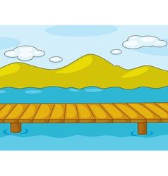 Empty pier vector