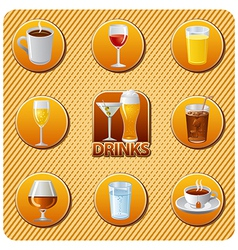Drinks menu vector