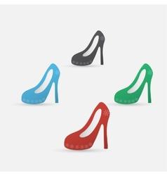 High heel shoes icon vector