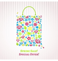 Shopping bag for spring sale vector