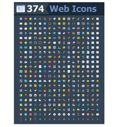 374 web icons vector
