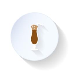 Latte flat icon vector