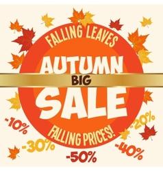 Big autumn sale poster vector