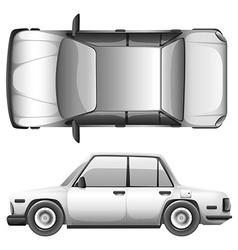 A silver car vector
