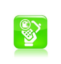 Photo phone icon vector