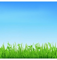 Sale banner with grass vector