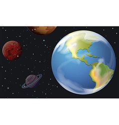 Planets in the outerspace vector