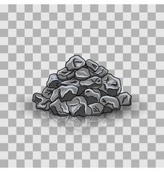 Stone pile vector