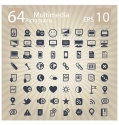 Technology multimedia symbols set vector