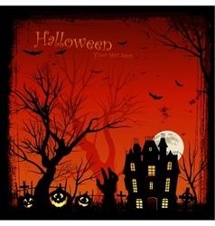 Creepy halloween background vector