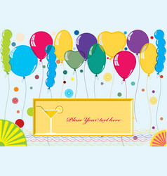 Card for congratulations vector