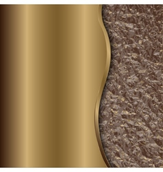Abstract bronze background with curve and foil vector