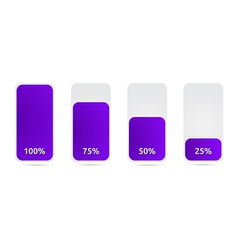 Statistic graph with purple vector
