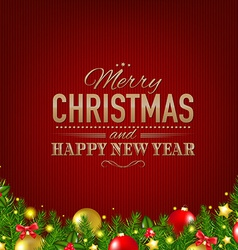 Dark red luxury christmas background vector