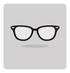 Flat icon black glasses vector