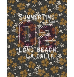 Long beach glamour girl vector