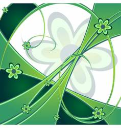 Spring green background vector