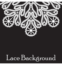 Realistic white lace vector