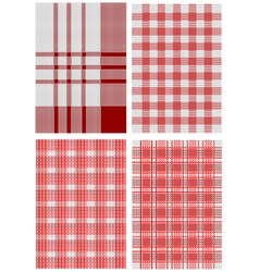 Checkered tablecloths vector