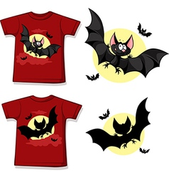 Kid shirt with cute vampire printed - isolated on vector