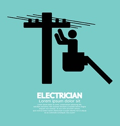 Electrician black sign vector