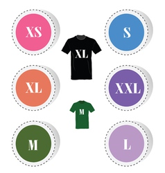 T-shirt button color vector