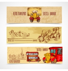Vintage transport banners vector