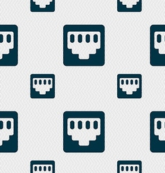 Cable rj45 patch cord icon sign seamless pattern vector