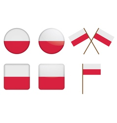 Badges with flag of poland vector