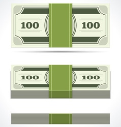 Dollars money in perspective vector