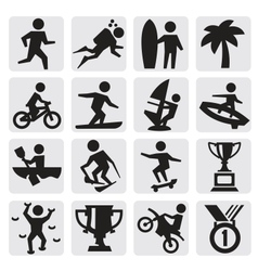 Extreme sports icon vector