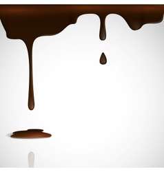 Melted chocolate dripping vector