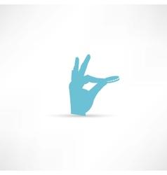 Hand throwing money icon vector