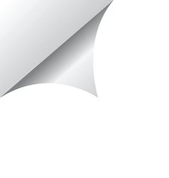 White page corner vector