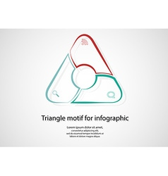 Triangle infographic consits of lines on light vector