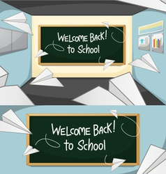 Welcome-back-to-school vector