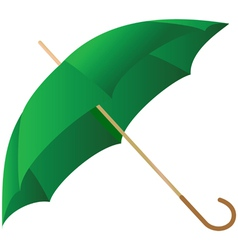 Green umbrella represented on a white background vector